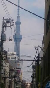 合羽橋商店街スカイツリー