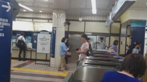 早稲田駅 対向改札